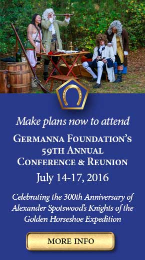 Attend Germanna Conference and Reunion