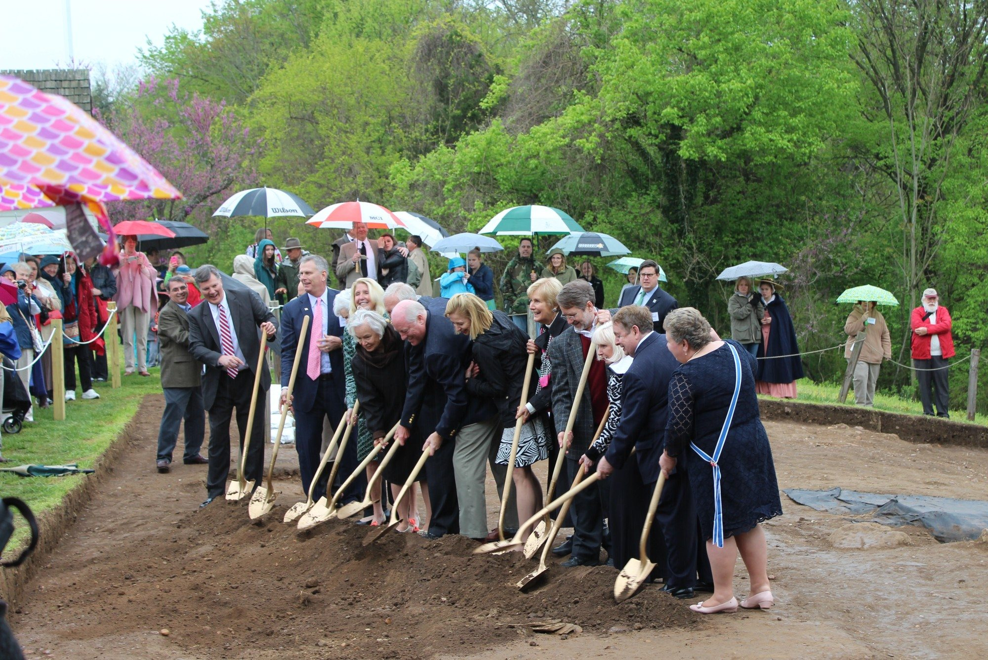 Groundbreaking at Ferry Farm
