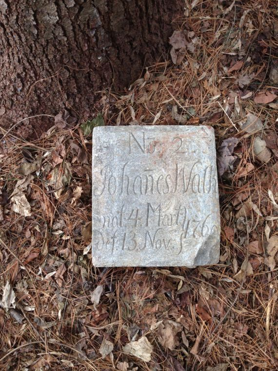 Germanna Headstone Unearthed