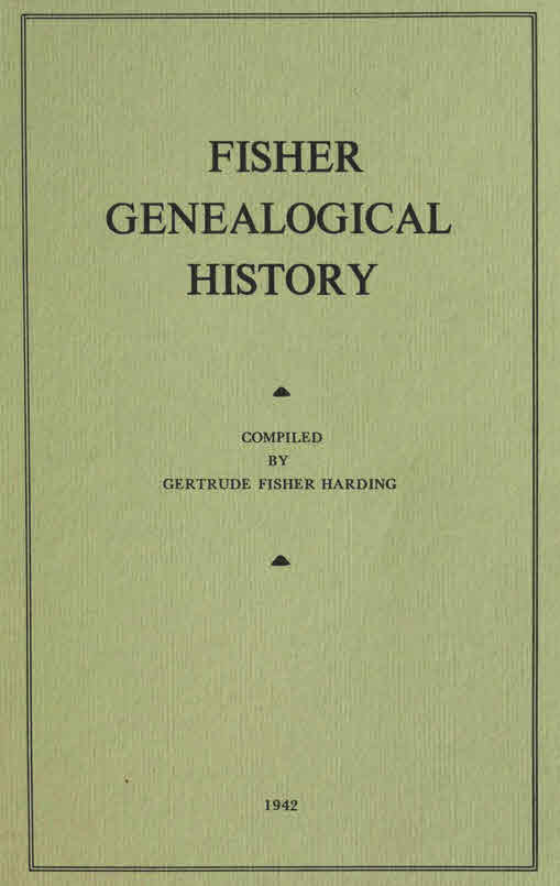 1942 Book: Fisher Genealogical History