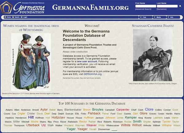 New Genealogy Database of Germanna Descendants