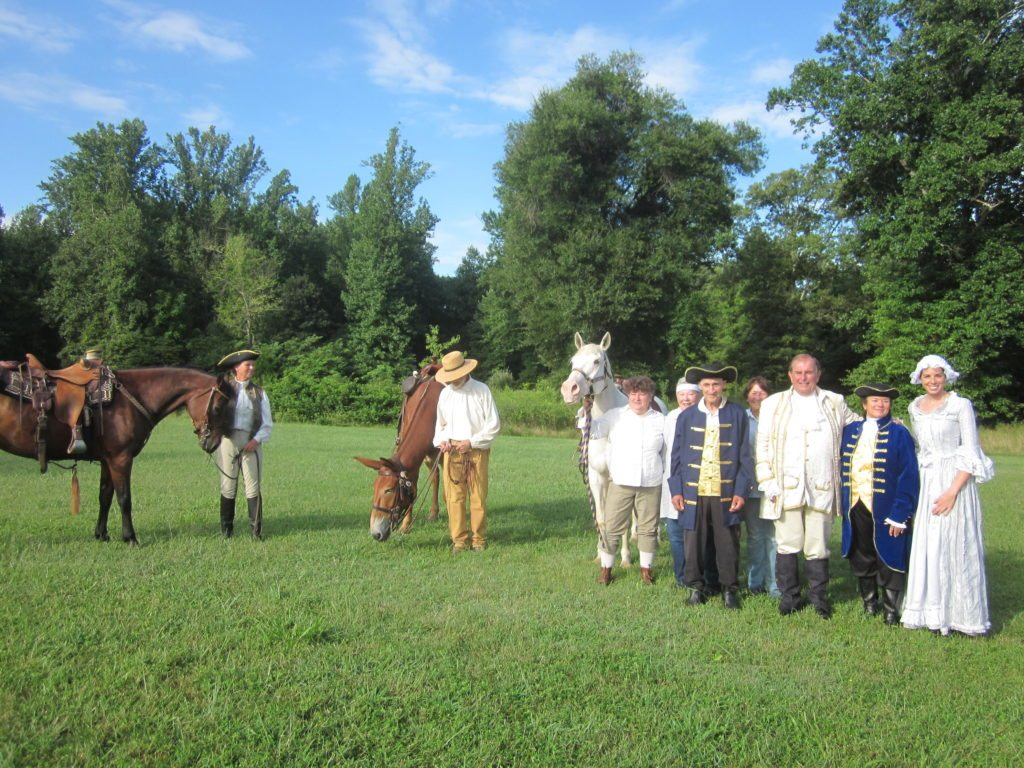 Knights of the Golden Horseshoe Expedition Ride Reenactment