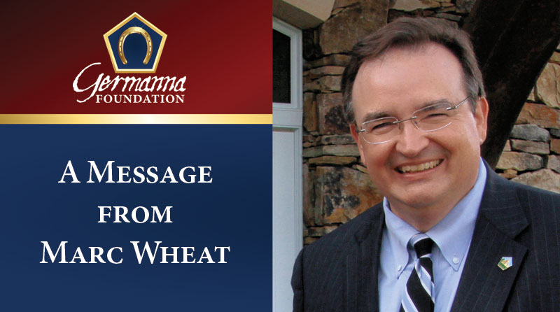 Message from Marc Wheat