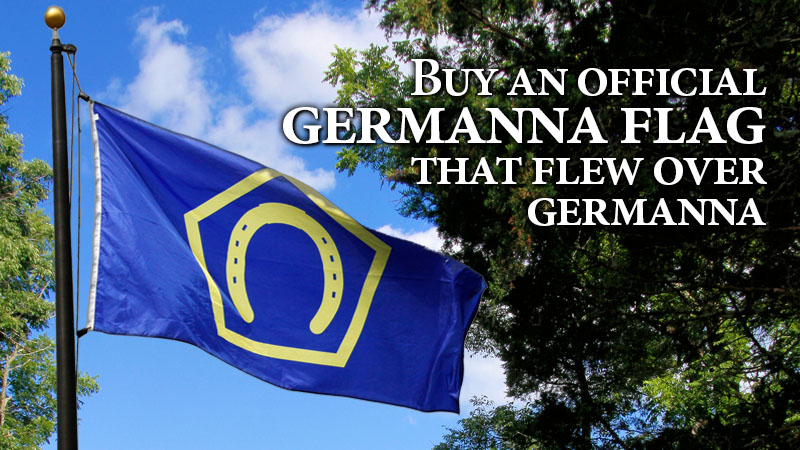 Buy a Germanna Flag that flew over Germanna